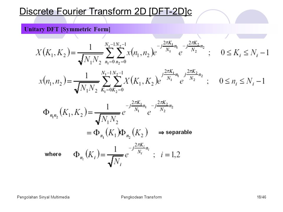 Discrete Fourier Transform 2D [DFT-2D]c